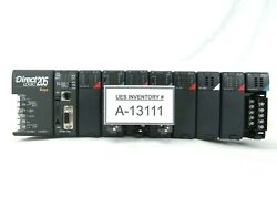 Automation Direct D2-09b-1 9-slot Plc Controller Directlogic 205 Missing Covers