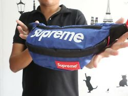 SUPREME Blue Polyester For Xmas Gift Shoulder Bag & Waist Bag To Family Party