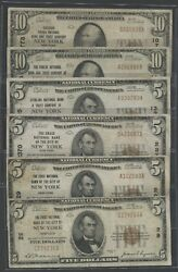 Fr1800-1 Fr1801-1 Fr1802-1 4x 5 And 2x 10 Nb Of New York 6 Diff Vf Bu5931