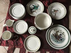 Portmeirion Birds Of Britain 21 Pieces Porcelain Made In Gb Collection-p300