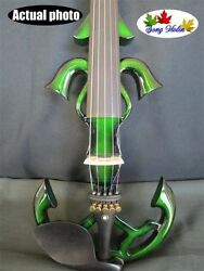 Song Brand Newly Model 5 String 4/4 Electric Violin Green Color 10495