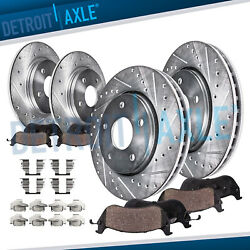 Front amp; Rear DRILLED Brake Rotors Ceramic Pads for 2003 2007 Honda Accord V6 $107.79