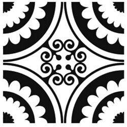 Square Baroque Pattern Sizes Reusable Stencil Shabby Chic Romantic Style / B17