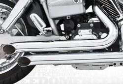 Harley Davidson Fxd Decloaration Turn-outs 2006-2014 Full Exhaust System Chrome