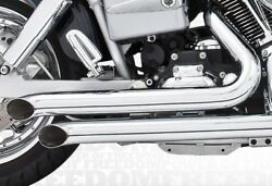 Decloaration Turn-outs 1991-2005 Full Exhaust System Chrome Harley Davidson Fxd
