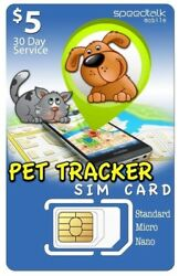 5 Sim Card For Pet Tracker And Other Tracking Devices  3-in-1  Gsm 4g Lte