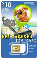 10 Sim Card For Pet Tracker And Other Tracking Devices   3in1   Gsm 4g Lte