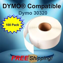 Adhesive Labeling Labelwriter® 30320 Dymo® Compatible El40 El60 400 Duo 100 Roll