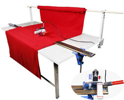 Fabric Cloth Cutter W/86.6220cm Rack And Digital Counter Clothing Tool