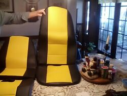 Set Of Corvette Seat Covers For '68 Or C3 Corvette. Yellow And Black. Brand New.