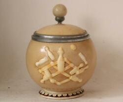 Antique German Porcelain Character Beer Stein Bowling Ball By Schierholz C.1890