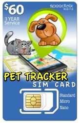1yr Sim Card For Pet Tracker And Other Tracking Devices  3-in-1 gsm 4g Lte
