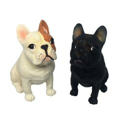 French Bulldog Figurine Lot Animal Collectibles Resin Painted Miniature Decor
