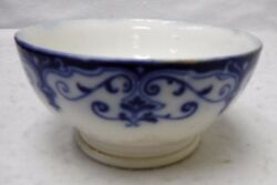 Johnson Brothers China The Jewel Flow Blue Pattern 1 Pint Oyster Bowl - 3 X 6