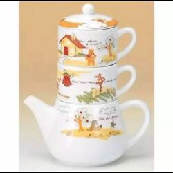 Disney Winnie The Pooh Pooh And Pigret Tea For One Teapot And 2 Cup Set Coffe Mug