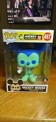 Funko Pop Disney Mickey Mouse Funko Shop Exclusive Colorways Green And Blue 457