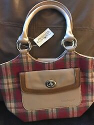 Longaberger Homestead Small Tote Purse Plaid, New With Tags