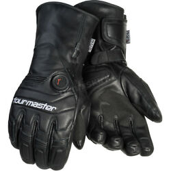 Tour Master Black Synergy 7.4-Volt Battery Powered Heated Leather Gloves (  L )