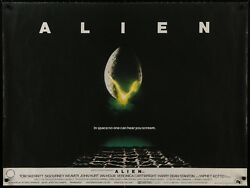 Alien 1979 Original Unfolded Uk 30x40 Quad Poster Ridley Scott Film/artgallery