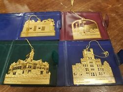 Mattoon Charleston Il Illinois Cole County Lot Easter Seals Gold Plated Ornament
