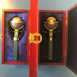Blue Dragonfly Deluxe Gold Condenser Microphones (pair)
