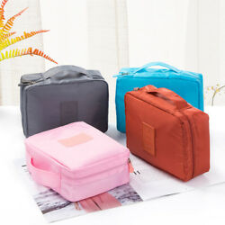 Travel Cosmetic Storage Bags Makeup Packing Cube Wash Luggage Organizer Pouch RS