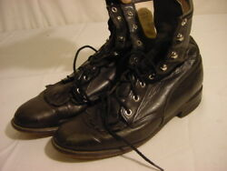 Cute BLACK JUSTIN LEATHER BOOTS Model L620 - Women's Size 7 C $40.00