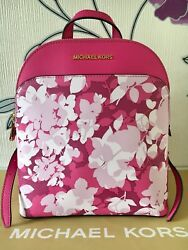 MICHAEL KORS EMMY Pink Small Floral Back Pack