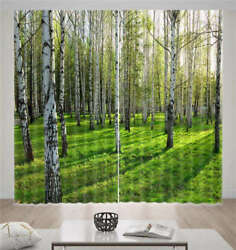 Eyeful Birch Forest 3d Curtain Blockout Photo Printing Curtains Drape Fabric
