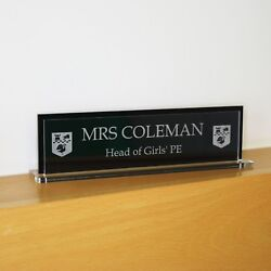 40 X 10 Cm Two Side Executive Personalised Desk Name Custom Engraved Sign