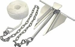 Boat Slip-ring Anchor Kit 7 For Boats Up To 19and039 Galvanized Rust Resistant
