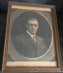 Woodrow Wilson 28th Us And 13th Princeton President Antique Portrait Pach Bros Ny