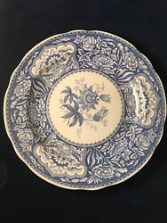 The Spode Blue Room Collection Floral Dinner Plate, 10 1/4 Diameter