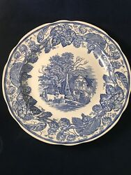 """Spode Blue Room Collection - Rural Scenes 10.25"""" Dinner Plate"""