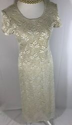 Vintage Jessica Howard Gold Evening Gown $42.99