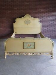 Antique Full Bed Double Bed Frame Vintage Full Bed Shabby Cottage Chic Bed