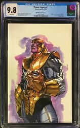 Thanos Legacy 1 Cgc 9.8 Dell'otto Nycc Unknown Comics Virgin Variant Cover