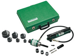 Greenlee 7306sb Ram And Hand Pump Hydraulic Driver Kit With 6 Slug Buster Punche