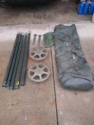 10 BAGS 4' FOOT ALUMINUM ANTENNA TOWER MAST SECTIONS POLES LOT OF 12 pieces EACH