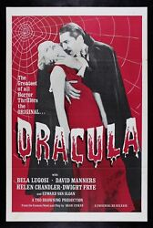 Dracula ✯ Cinemasterpieces Blood Red Horror Vampire Original Movie Poster 1960and039s