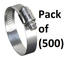 500 Ideal 670040104053 5 To 7 Marine Grade Stainless Steel Hose Clamps