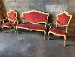 Antique And Elegant Lacquered And Painted Louis Xv Living Room