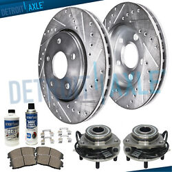 4wd Front Wheel Bearings Drilled Rotors Chevy Gmc Sonoma S10 Blazer Jimmy