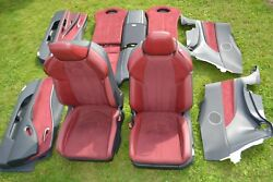 LEXUS LC500 LC 500 LC500h Red Rose Leather Front Rear Seat Seats Door Panel Card