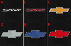 New Black Floor Mats 2012-2019 Chevy Sonic Choice Of Embroidered Logo On All 4