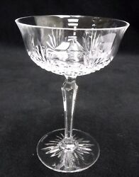 Wedgwood Crystal Majesty Pattern Tall Champagne Sherbet Glass Goblet - 6-5/8