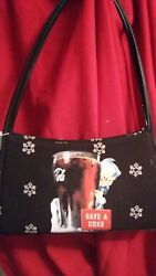 -new- Coca-cola Womanand039s Handbag With Detachable Cell Phone Holder And Wallet