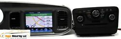 2011-2014 DODGE CHARGER RADIO FACE DISPLAY SCREEN W CLIMATE CONTROL ALL 4 SECT