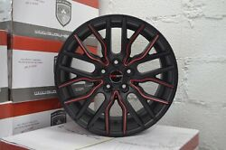 4 Wheels FLARE 18 inch Matte Black Red Rims fits CHEVY IMPALA 2000 - 2013
