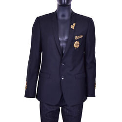 Dolce And Gabbana Gold Bees Crowns Embroidery Blazer Jacket Love Amore Black 07050
